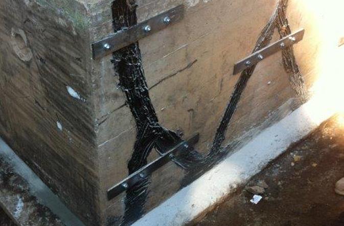 Réparation de<br> fissures de béton