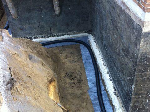 Installation du nouveau drain de fondation