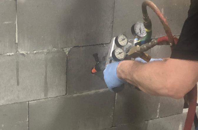 Remplissage de fondation<br> en blocs de béton